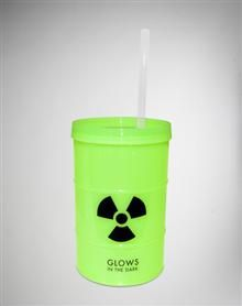 24 oz. Toxic Glow in the Dark Cup with Straw