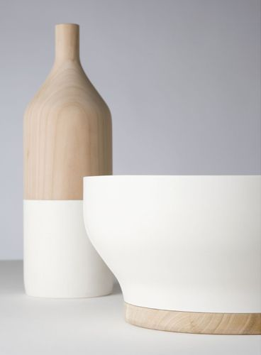 THE WOOD COLLECTOR | Scandinavian style ceramics by Post Fossil combining cherry…