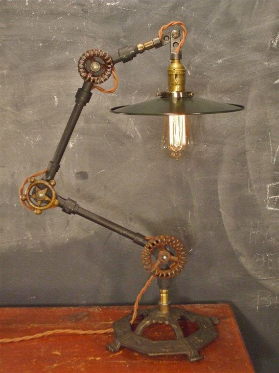 CUSTOMIZABLE - Vintage Industrial Desk Lamp - Machine Age Task Light - Cast Iron - Steampunk on Etsy, $483.33 AUD