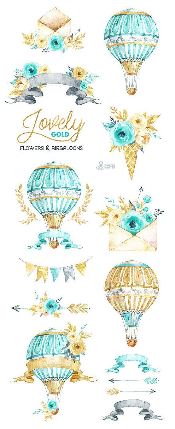 Oro de flores encantadoras. Airbaloons y mucho más. Imágenes
