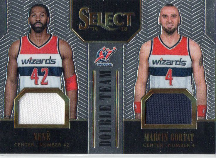 2014-15 Select Double Team Jerseys Silver Marcin Gortat & Nene /149 Wizards