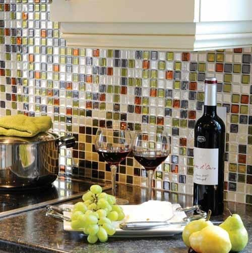 This easy-to-install backsplash made of peel-and-stick mosaic tiles caught your attention and is our pin of the week. These mini sheets are made of a three-dimensional gel that mimics the look of ceramic or glass. Smart Tiles, starting at about $8 for a 10-by-10-inch sheet from homedepot.com | Photo: Courtesy of Home Depot | thisoldhouse.com