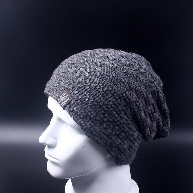 CASUAL MEN WINTER HAT BEANIE HATS FUR WARM BAGGY KNITTED SKULLIES BONNET SKI SPORTS ADULT CAP ARRIVAL BEANIES
