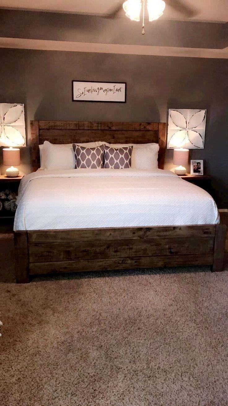 01 Farmhouse Master Bedroom Decorating Ideas | Bedding/bedroom Ideas