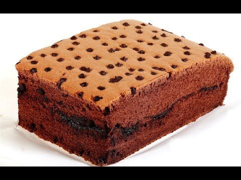 How To Make Soft Chocolate Chip Sponge Cake   Taiwan Castella Cake Recipe - 現烤蛋糕 - 古早味巧克力棉花蛋糕 - YouTube