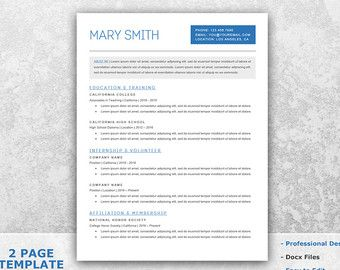 Resume Template Word CV Template Word Cover Letter CV