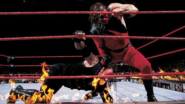 Image result for Undertaker vs. Kane - Inferno Match