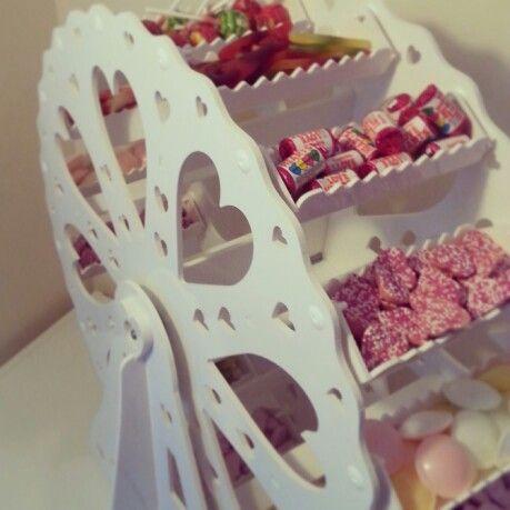 Candy cart ferris wheel.  Facebook.com / izzbizzsweettreats