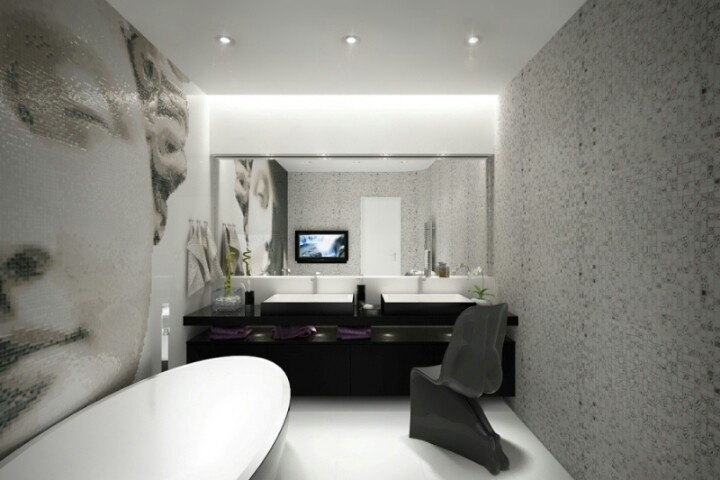 32 best images about modern baroque interior design on for Baroque style bathroom