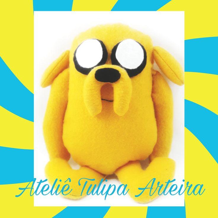 Jake the dog  #jakethedog #adventuretime #adventuretimefelt #jakeemfeltro #jakeadventuretime #tuliparteira
