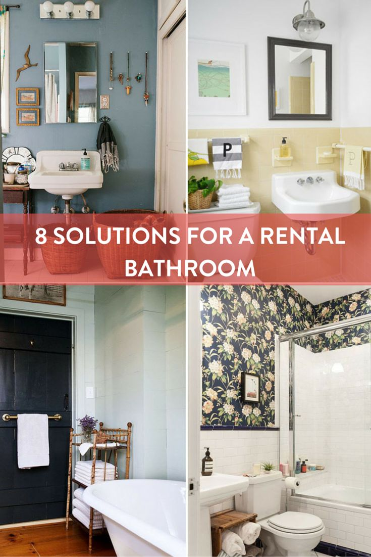 Rental apartment bathroom ideas - If Your Rental Bathroom Needs To Some Help One Of These 8 Quick Fixes Might