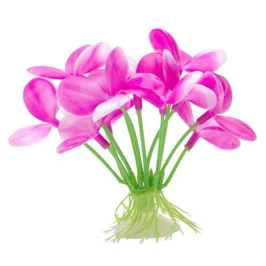 Plantas Plasticas con Ventosa Orquidia  MARINA 12,5 cm - #FaunAnimal Plantas Plasticas con Ventosa son plantas de aspecto natural que ondulan en la corriente de agua al igual que las plantas vivas.