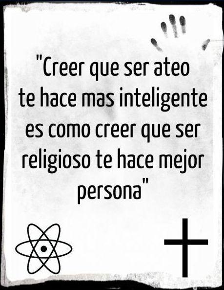 ser ateo te hace inteligente