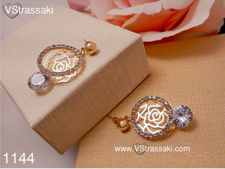 Κωδικός: 1144  - 6.90 €. Σκουλαρίκια με λουλούδι. Για παραγγελία: ▶ Μέσω φόρμας : http://www.vstrassaki.com/#!form/v0sut ▶ Μέσω e-shop : www.vstrassaki.com ▶ Με SMS στο 6988288107 όπου μας στέλνετε ονοματεπώνυμο, διεύθυνση και τον κωδικό ή τους κωδικούς που σας ενδιαφέρουν.  #ΣΚΟΥΛΑΡΙΚΙΑ         #ΜΟΔΑ         #ΚΟΣΜΗΜΑ         #ΚΟΣΜΗΜΑΤΑ        #ΧΡΥΣΑΦΙ             #ΣΤΡΑΣ         #ΛΟΥΛΟΥΔΙ                    #VSTRASSAKI