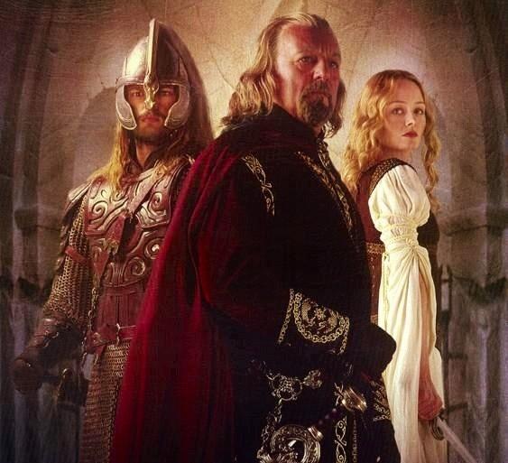 Eomer- King Theoden- Eowyn of Rohan
