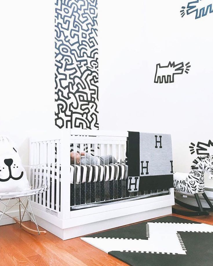 Babyletto On Instagram A Monochrome Beaut Babyletto Harlow Acrylic Crib Designed By Ma Boy Nursery Design Baby Nursery Themes Modern Boy Nursery