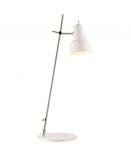 Biała  lampa stołowa Conic - Nord