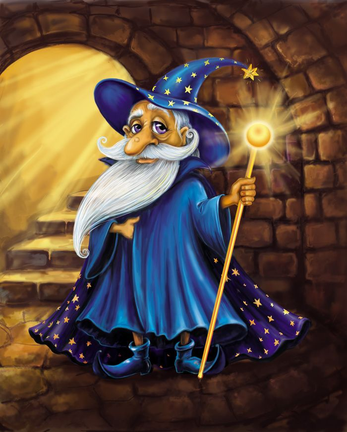 Днем, волшебники в картинках