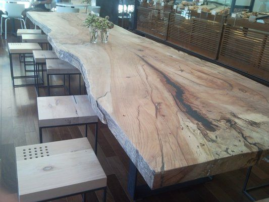 how to make wood slab dining table diy