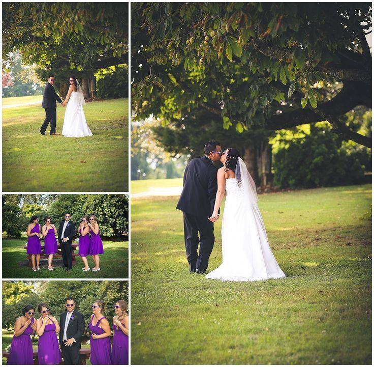 Mission Wedding Photographer - Heritage Park #funinpurple #groom #kiss