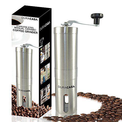 DuraCasa Stainless Steel Manual Coffee Grinder - High Quality Burr Coffee Grinder - Coffee Maker With Grinder For Espresso - Roasted Coffee Bean Grinder - Burr Grinder Coffee Mill - Best Manual Coffee Grinder Period! - http://teacoffeestore.com/duracasa-stainless-steel-manual-coffee-grinder-high-quality-burr-coffee-grinder-coffee-maker-with-grinder-for-espresso-roasted-coffee-bean-grinder-burr-grinder-coffee-mill-best-manual-coffee/