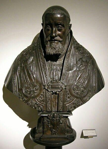 Busto di Gregorio XV Buoncompagni. 1622. Per Scipione Borghese. Museo di Arte Medievale di Bologna.