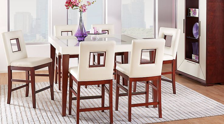 Sofia Vergara Savona Ivory 5 Pc Counter Height Dining Room from  Furniture