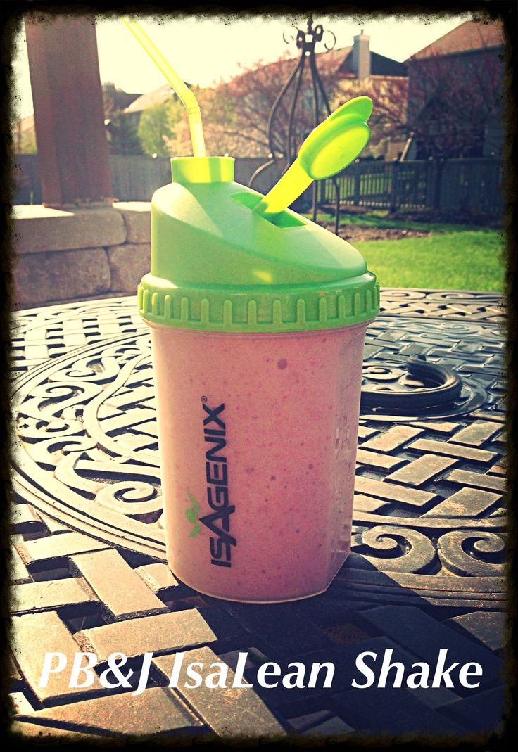 PB&J IsaLean Shake - 2 scoops French Vanilla IsaLean powder - 1 TBL PB2 peanut butter powder - 4 medium strawberries - 8 oz Purified Water - 8 cubes of ice Rinse, and hull strawberries. Blend all ingredients until smooth. Substitute or mix strawberries with your favorite berry, fresh or frozen. Katra.isagenix.com