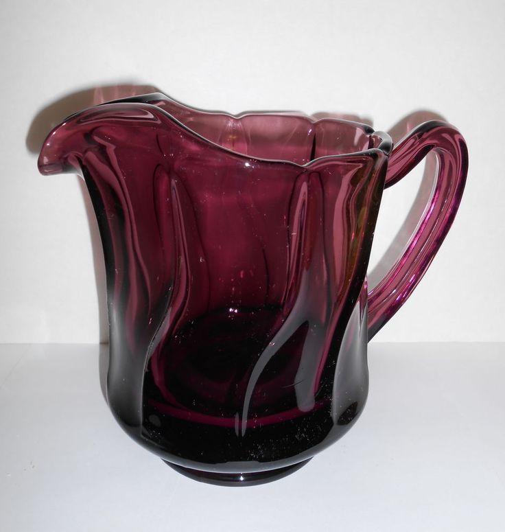 Fostoria Jamestown Amethyst Purple Glass Pitcher Glass Pitchers Purple Glass And Glasses