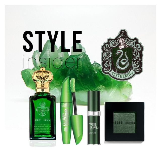 """Slytherin inspired beauty set"" by hogwartsinspired on Polyvore featuring beauty, Clive Christian, RéVive and Bobbi Brown Cosmetics"