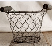 "Wire Gathering Basket 5"" with Wood  Handles $3.99 each / 6 for $2.99 each ..yep agree....amazing site..!!!  save-on-crafts.com"
