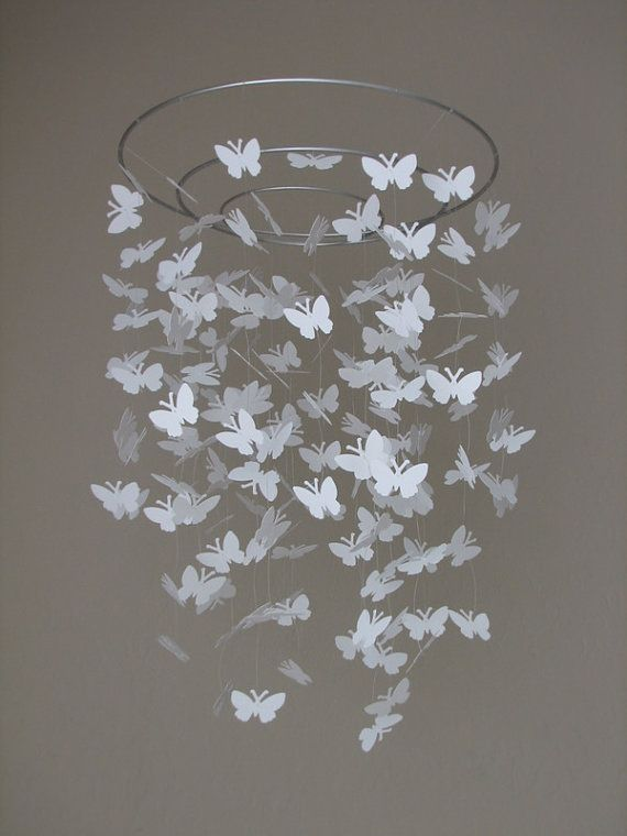 IF we had time we could make a giant sized one of these for over the food & beverage table except the butterflies could be made with pages out of a book. Around the top we could glue the words Reader's Cafe... I'm thinking ambience ; )
