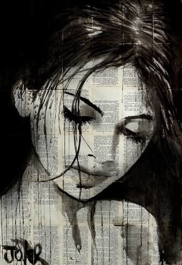 "Saatchi Art Artist LOUI JOVER; Drawing, ""wild daisy"" #art"