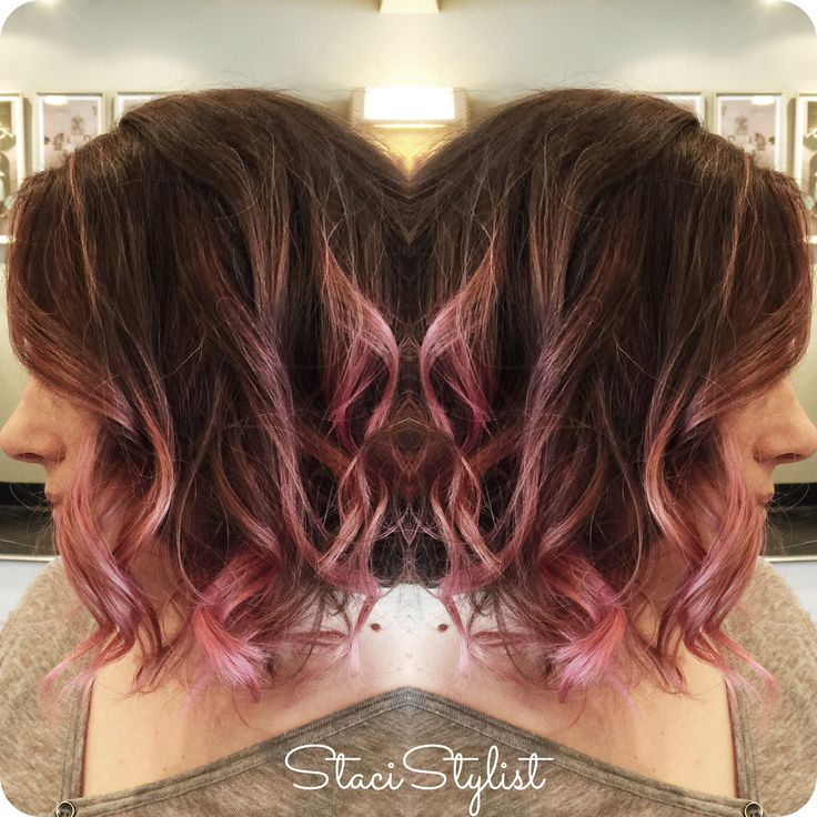 17 Best Ideas About Pink Hair Highlights On Pinterest