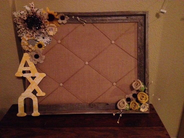 Alpha chi omega decorated board