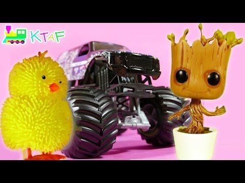 Kid Toys - Groot from Guardians of the Galaxy, Talking Olaf Toy, Hot Wheels, Big Yellow Chic - YouTube