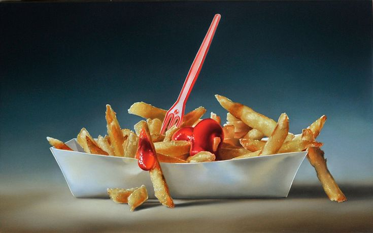 Tjalf Sparnaay Megarealist Painting - Chips