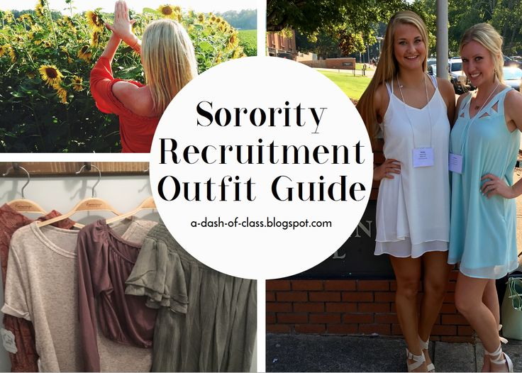 The ultimate outfit guide for girls going through formal sorority recruitment.  #sorority #recruitment #rush #college #tips #sororityrecruitment