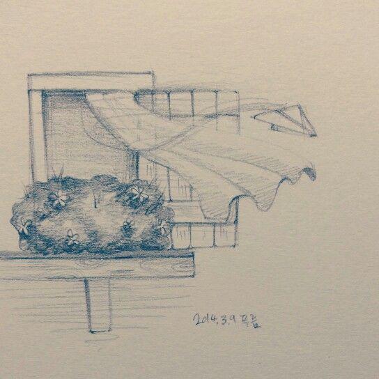 Breeze, window, paper airplane