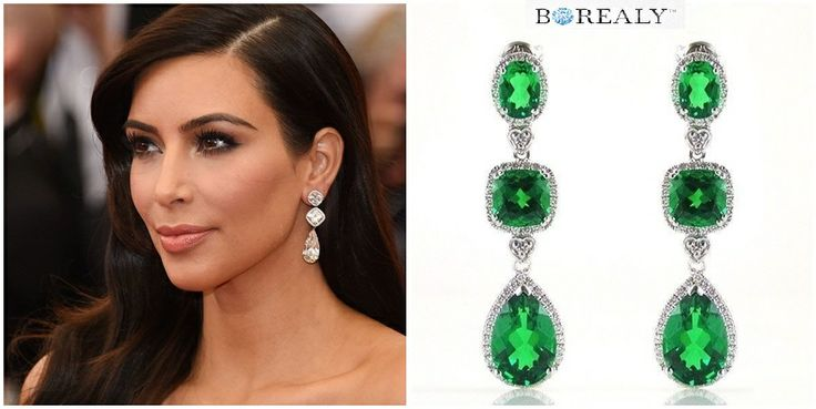 Kim Kardashian, Cercei Smarald Luxury Borealy  http://www.borealy.ro/cercei-smarald-luxury-borealy.html