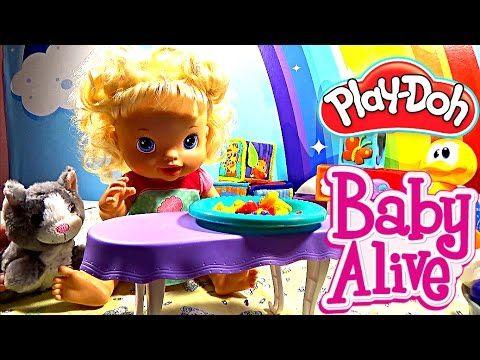 Кукла пупс кушает Плей До беби элайв соня говорит малышка какает Play Do...