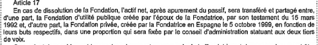 In 1999 al richtte Fabiola een Spaanse stichting op - details (vermogen, doelstelling, begunstigden) ontbreken