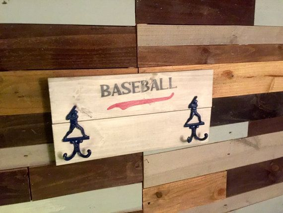 Baseball Decor Sign  Baseball Room Decor  Coat by ClearbrookCrafts