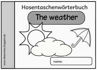 """Ideenreise: Hosentaschenwörterbuch """"weather"""" (neue Version)"""