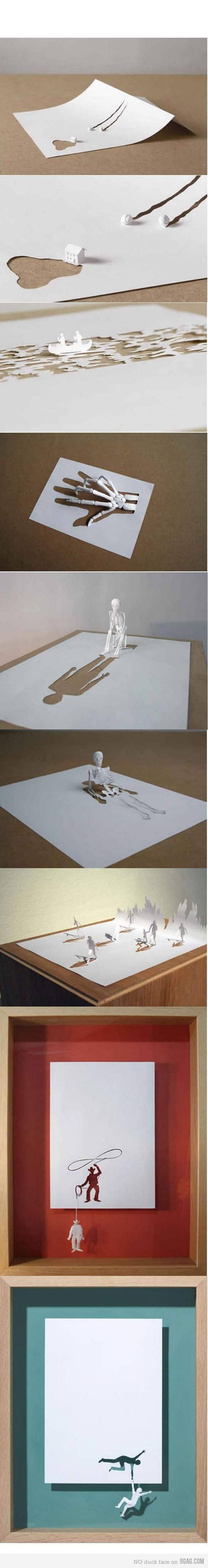 clever paper art.