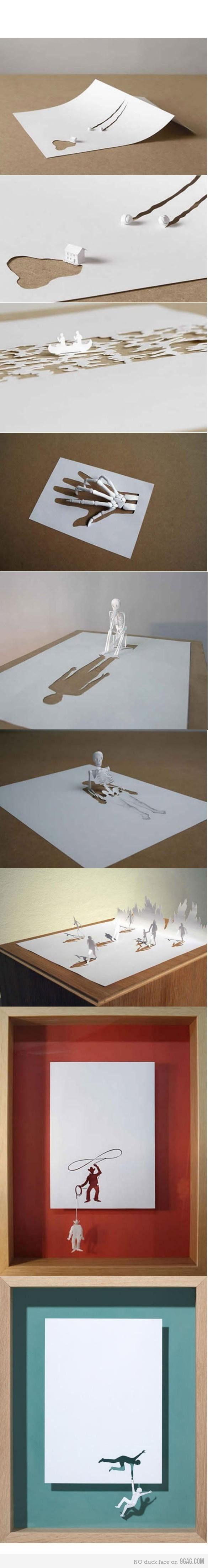 clever paper art.