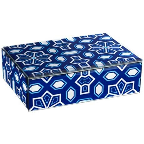 Zaffre Dazzling Blue and White Jewelry Box