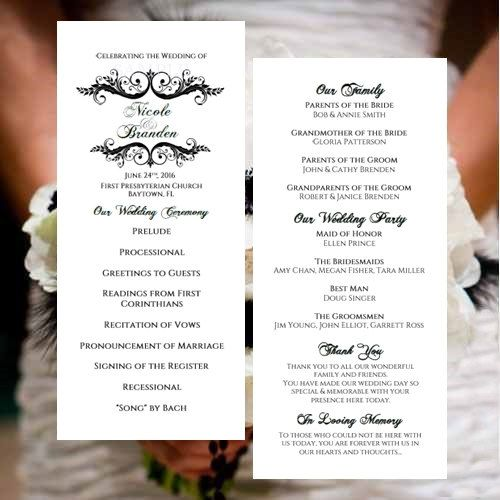 7 best images about Wedding Programs on Pinterest | Free wedding ...