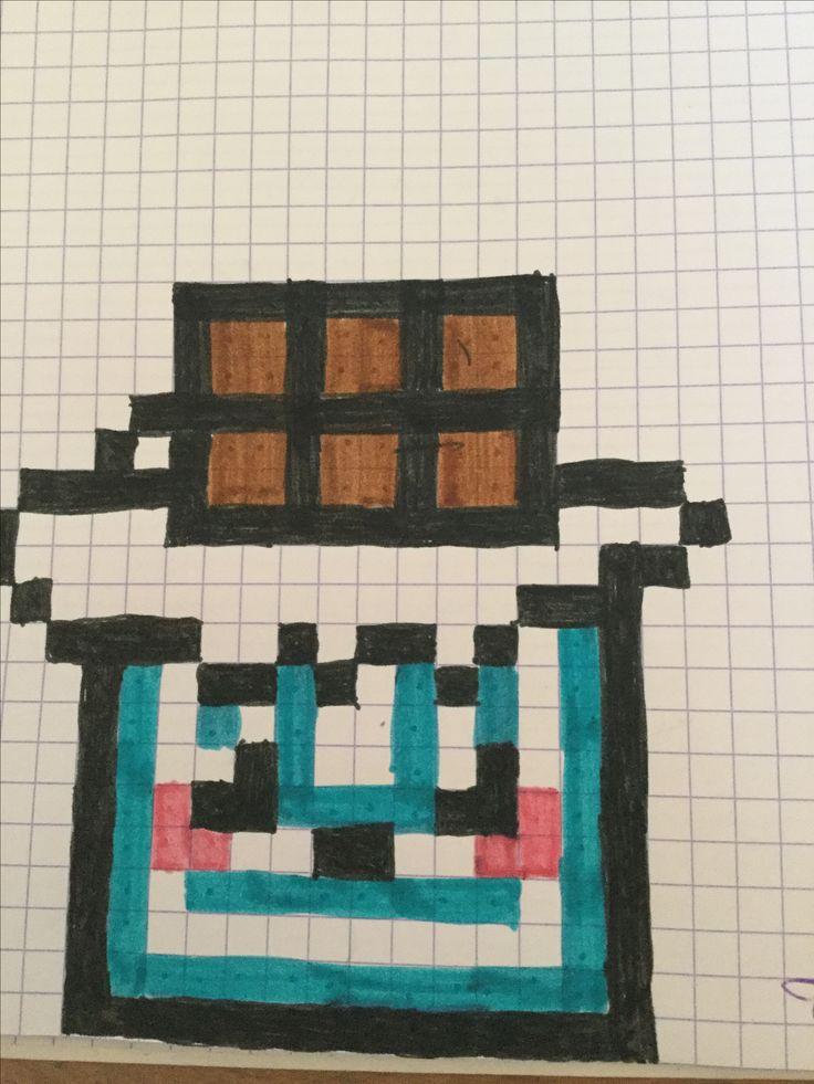 Les 128 meilleures images du tableau pixel art sur pinterest dessiner art fer et battements - Dessin tablette chocolat ...