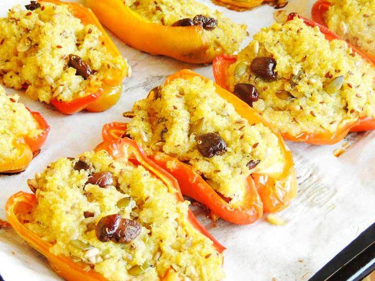 Peperoni ripieni di quinoa a basso indice glicemico di…